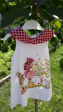Летнее платье mayoral 80 см(12  мес)белое с 3d декором