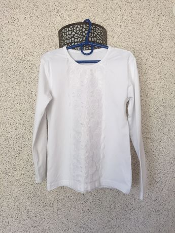 Реглан, турецька біла кофточка в школу на ріст 128-134 см на 7-8 років
