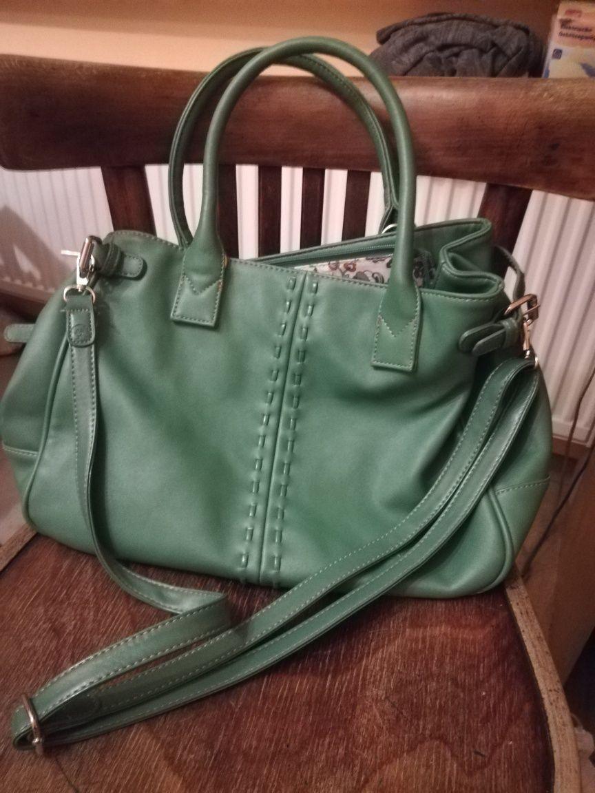 Sprzedam zieloną torebkę