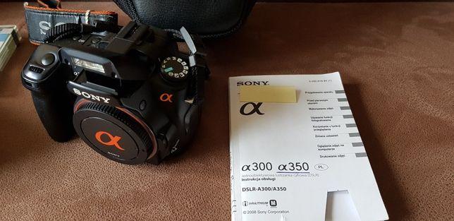 Aparat cyfrowy Sony DSLR-A350 Body+ 3 pamięci i dużo dodatków.