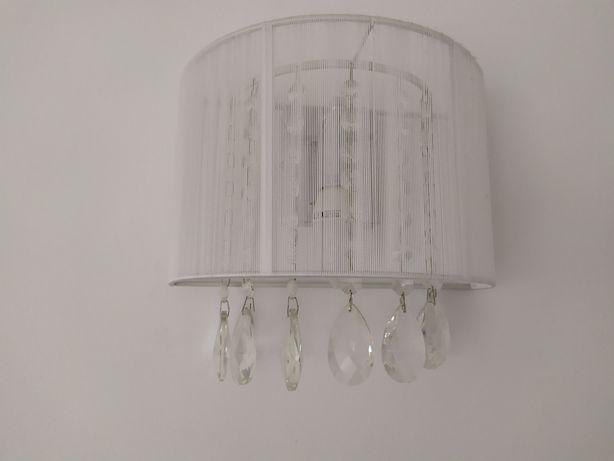 Lampa ścienna kinkiet Essence biała abażur dostępne 2 sztuki