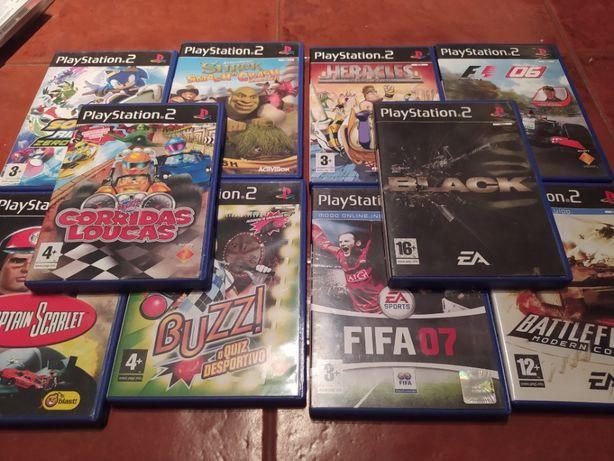 7 Jogos variados para PS2 a 2€ cada