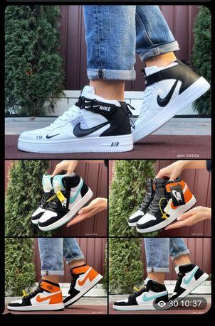 Зимние Кроссовки Nike Air Jordan 1 Retro (кросівки зимові)