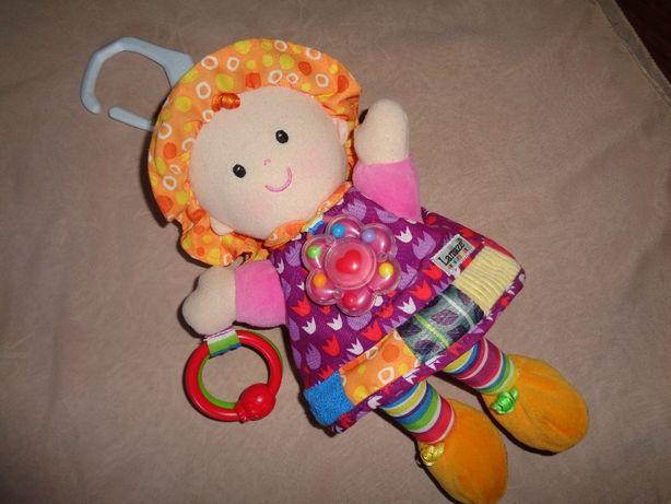 Lamaze lalka Emilka śliczna kolorowa zawieszka gryzak grzechotka