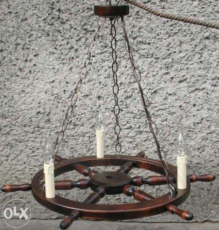 Żyrandol z koła sterowego koło sterowe 68cm
