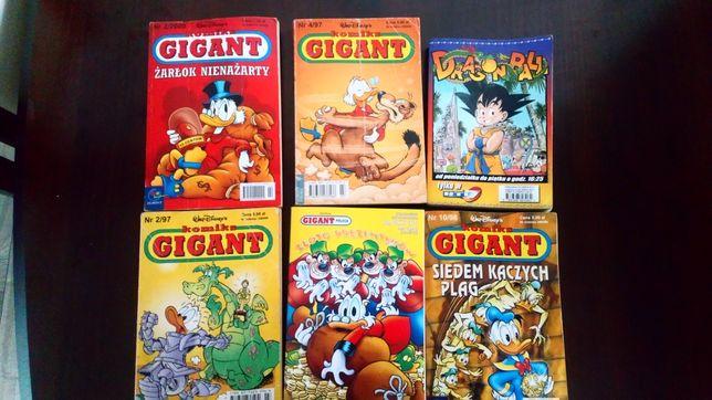 Komiksy Gigant 6sztuk