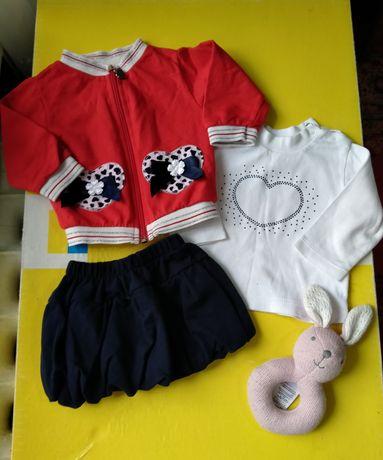 Продам костюмчик тройку на маленькую модницу (кофточка,гольфик,юбочка)