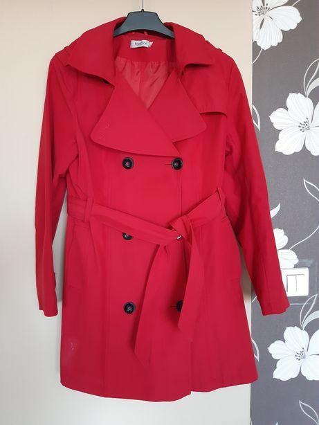 Płaszczyk płaszcz 42 wiosenny jesienny czerwony