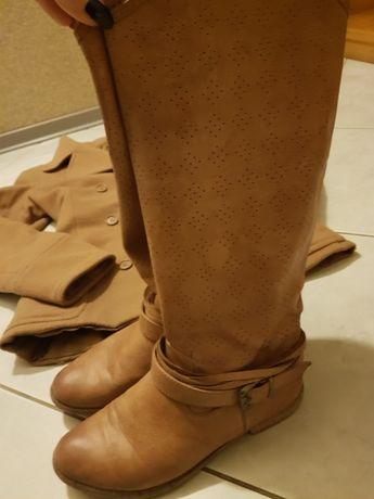 kozaki, buty, botki+pasek, kozaczki ażurowe, skóra