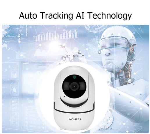 Камера WiFi INQMEGA HD 720P Автослежение Поворотная купольная Белая