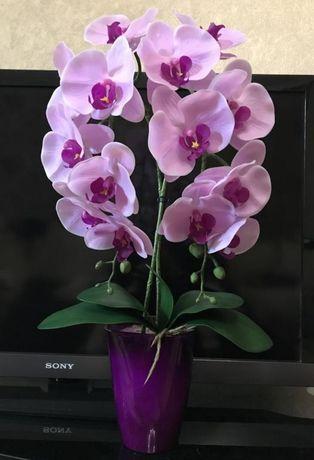 Орхидея фаленопсис искусственная композиция силикон
