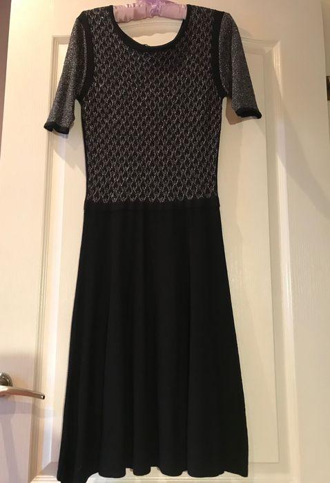 Чёрное платье с серебристым люриксом Запорожье - изображение 1