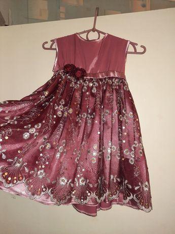Платье нарядное от 1 года до 5 лет