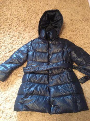 Куртка пуховая на девочку 6-7 лет Sisley бу