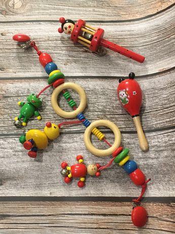 Деревянные игрушки для новорождённых