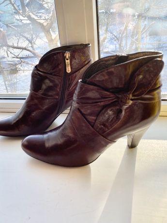 Ботинки женские ботинки жіночі ботильены кожаные 37 размер