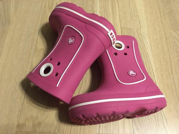 CROCS (оригинал) C8/9. Резиновые сапожки для девочки сапоги кроксы