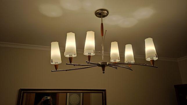Candeeiro de sala com lâmpadas de led em muito bom.estado  Com  seis