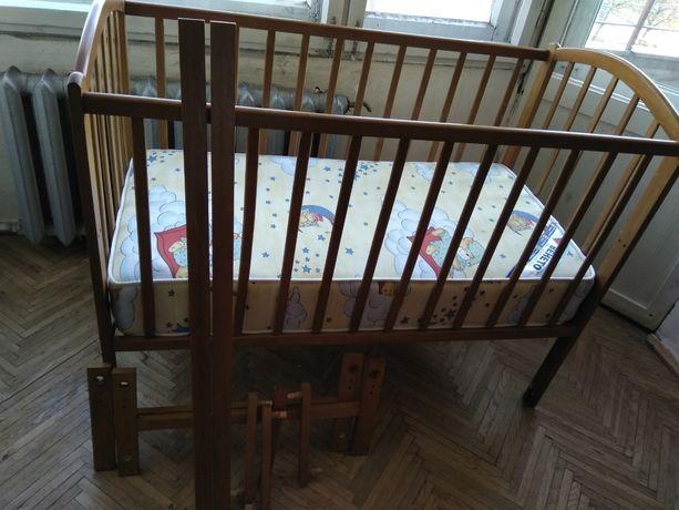 Ліжечко дитяче+ матрац дитячий Венето