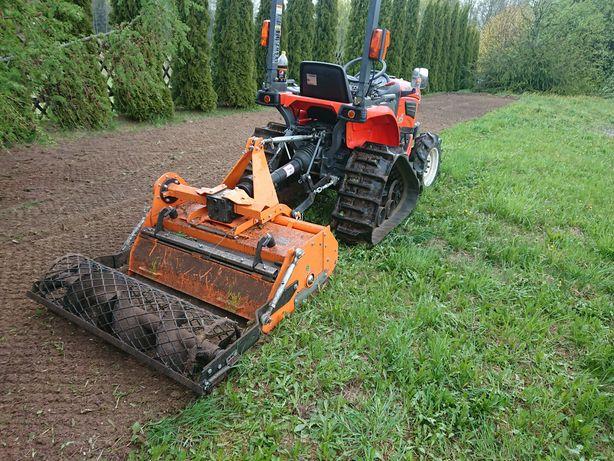 Uslugi mini traktorem i glebogryzarką separacyjną-1raz i trawnik już