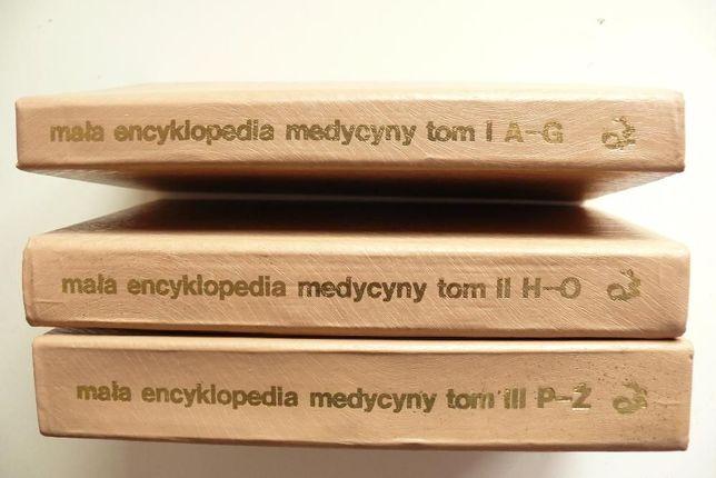 Mała encyklopedia medycyny PWN 3 tomy, twarda oprawa