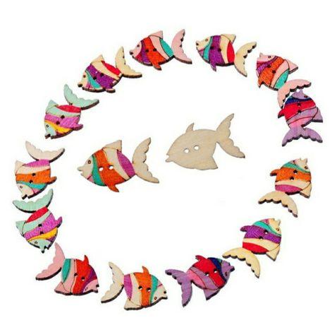 Botões em forma de Peixe.