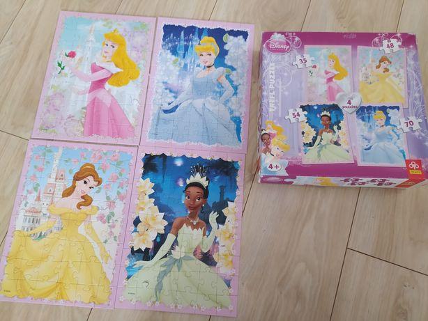 Puzzle 4w1 księżniczki Disney 4+ Kopciuszek Bella