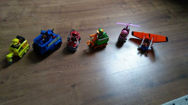 Figurki z pojazdami Psi Patrol cała ekipa