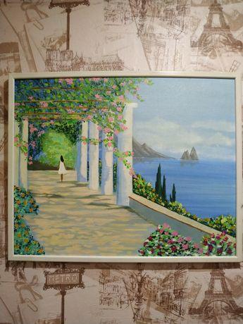 """Картина """"Прогулка возле моря"""" акрил."""