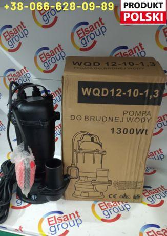 Насос фекальный дренажный бытовой для грязной воды POMPA Польша 1,3кВт