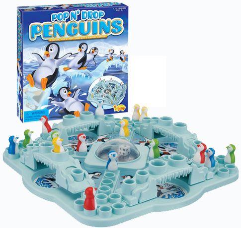 Nowy Chińczyk Gra Rodzinna Wyścig Pingwinów