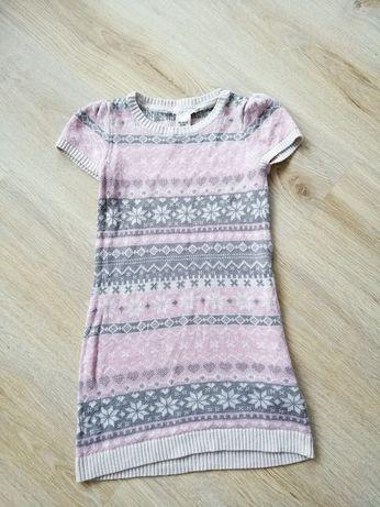 H&M 110 116 cm sukienka dziecięca na sesję święta świąteczna 6 lat