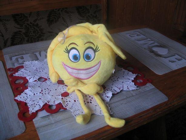 Emotikonka zabawka pluszak, przyklejany do szyby