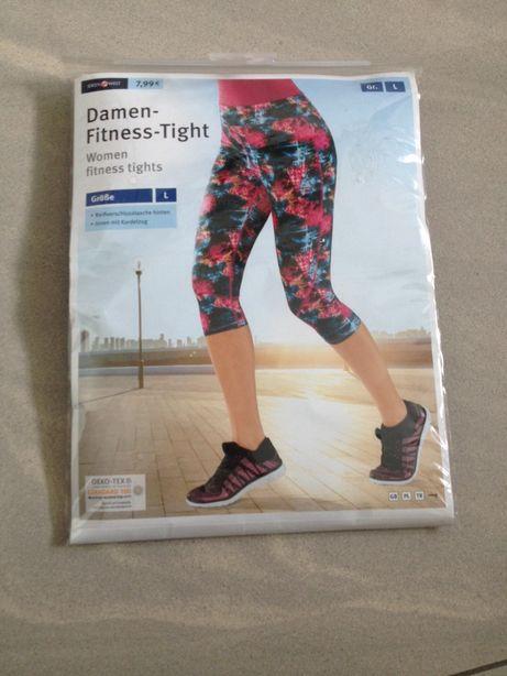 Nowe spodnie 3/4 fitness L