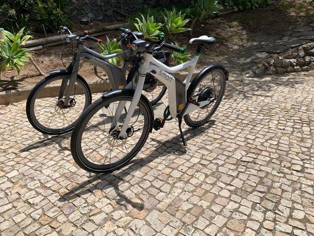 2 Bicicletas elétricas marca Smart/Mercedes Benz uma como nova,2 peças