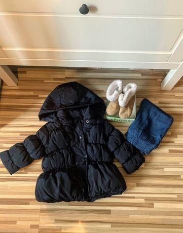 Zimowy zestaw kurtka reserved buciki i cieple spodnie