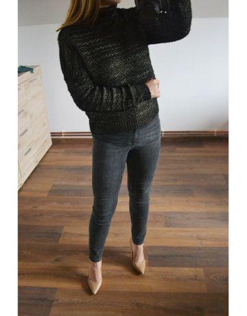Czarno-złoty sweter z golfem mohito 36 38