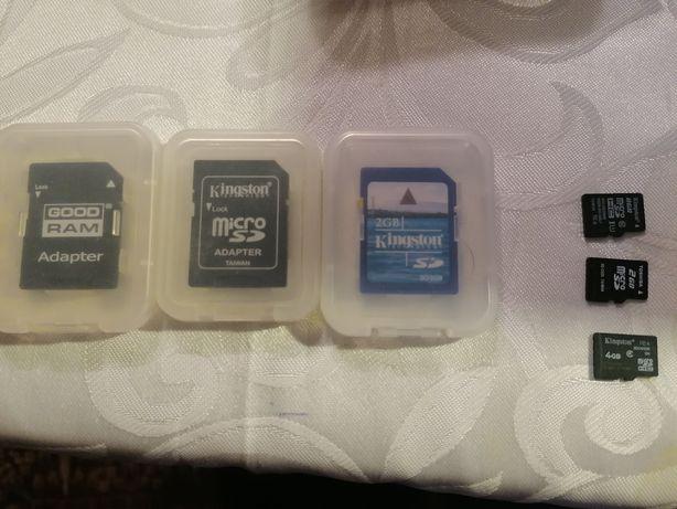 Karty pamięci SD adapter micro sd