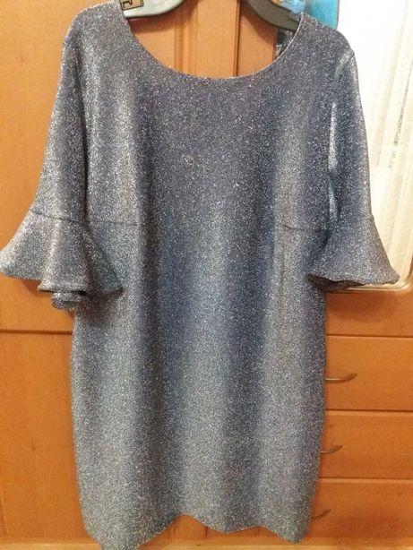 Сукня люрексова сіро-голубого кольору.Платя