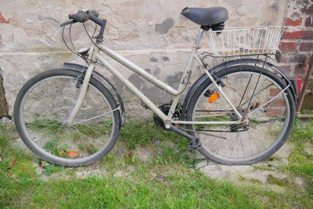 Szary rower do projektów ogrodniczych, rower na kwietnik na donicę