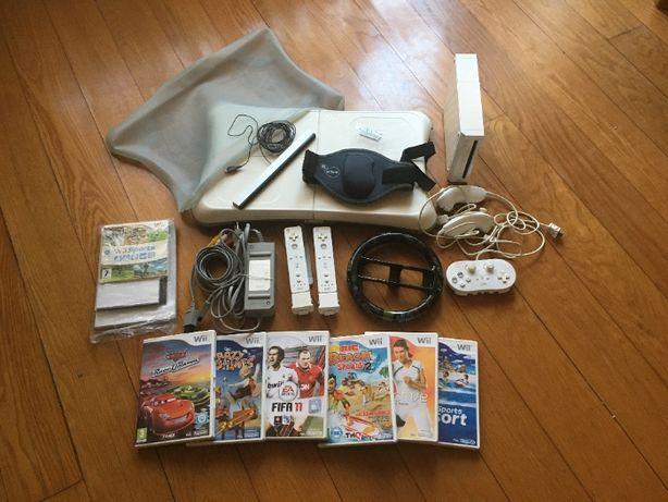 Wii com jogos e balança