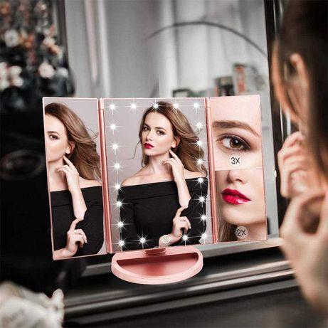 Espelho Professional de Maquilhagem com luzes led Rotação 180