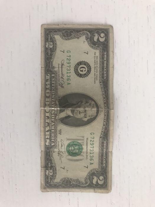 Банкнота 2 долара. 1976року. Колекційна. 2 доллара 1976 года. Стрий - зображення 1