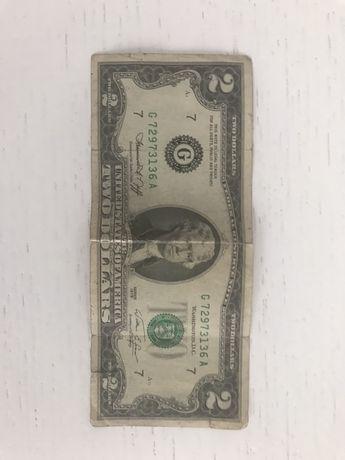 Банкнота 2 долара. 1976року. Колекційна. 2 доллара 1976 года.
