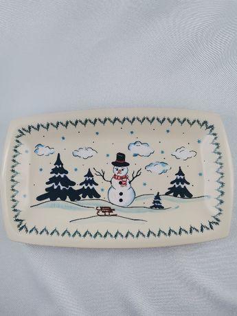 Półmisek świąteczny ceramika bolesławiec,
