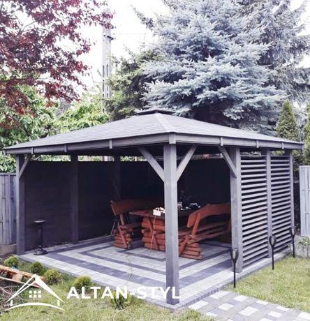Altany, altanki, wiaty, altanka ogrodowa GAJA 3x3m PRODUCENT