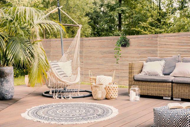 Pergola ogrodowa panel ogrodzeniowy płot drewniany