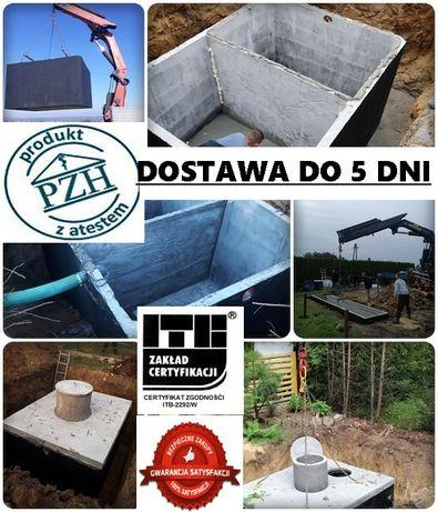 Szambo betonowe WIELOLETNIE z dnem zbrojone 10m3 dostawa Ujazd Tuszyn