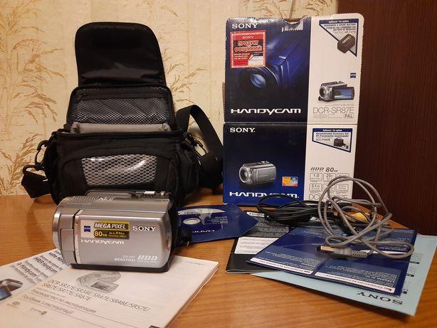 Видеокамера SONY DCR-SR 87 плюс  новая сумка для нее
