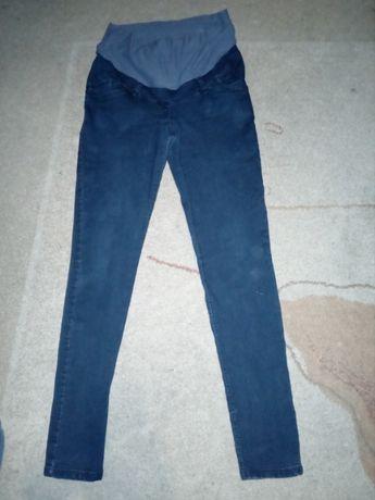 Spodnie ciążowe z elastanem rozmiar 42 zwężane ku dołowi w pasie gumka